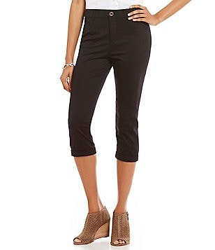 Intro Hailey 5-Pocket Solid Stretch Twill Capri Pants