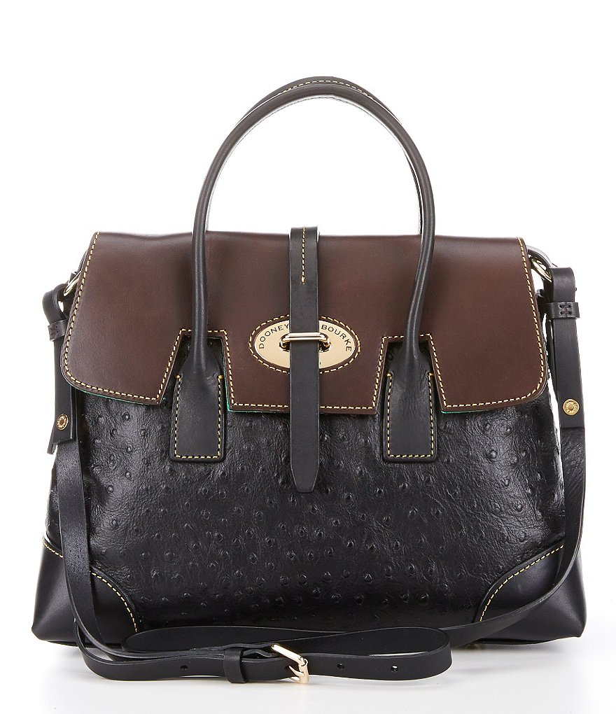 Dooney & Bourke Ostrich Collection Elisa Satchel