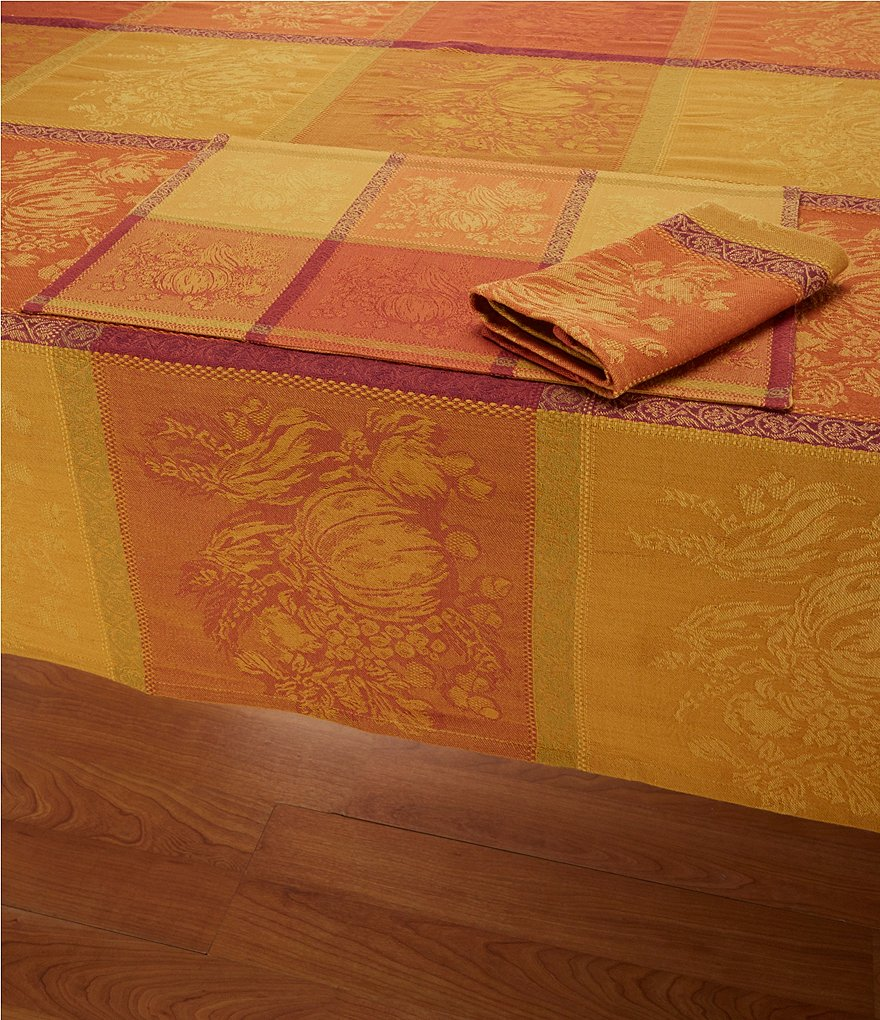 Elrene Home Harvest Cobble Hill Cotton Jacquard Table Linens