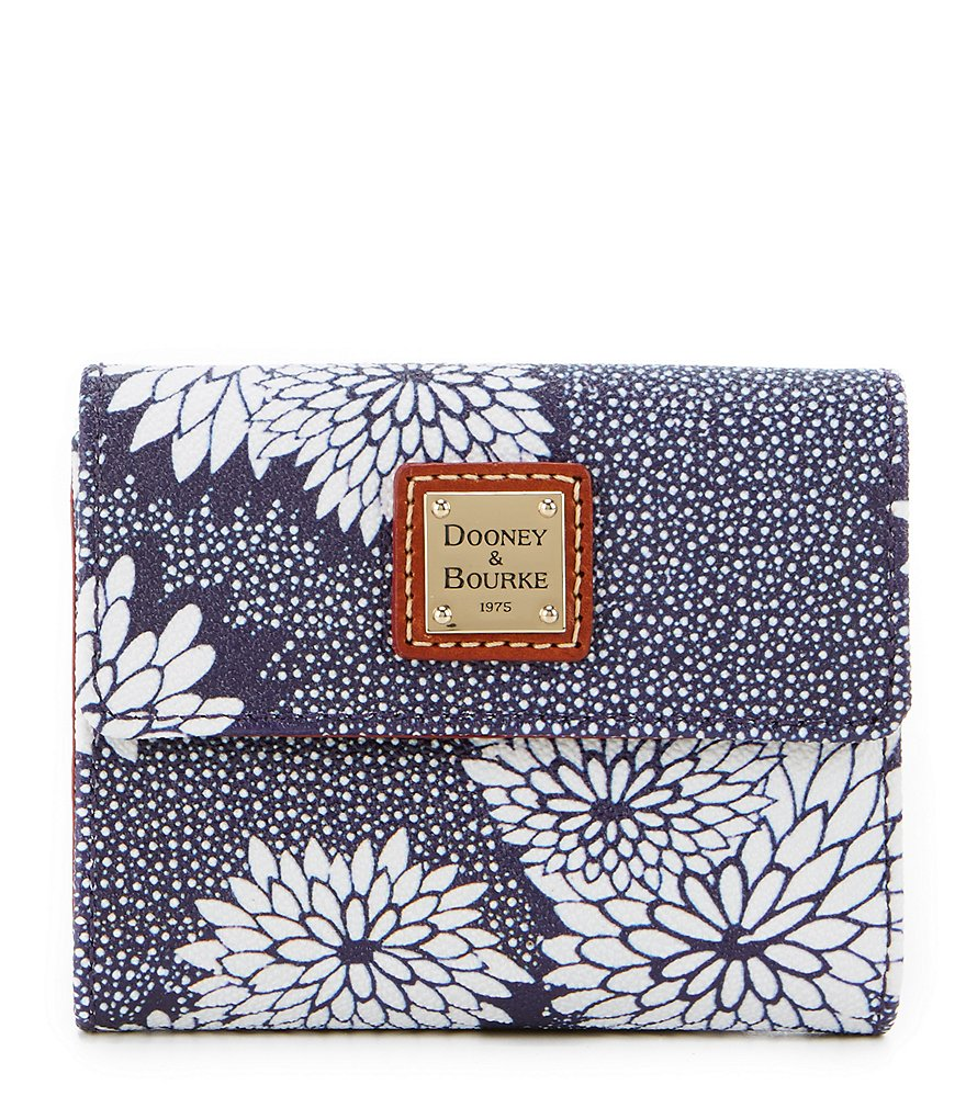 Dooney & Bourke Zinnia Collection Floral Small Flap Wallet