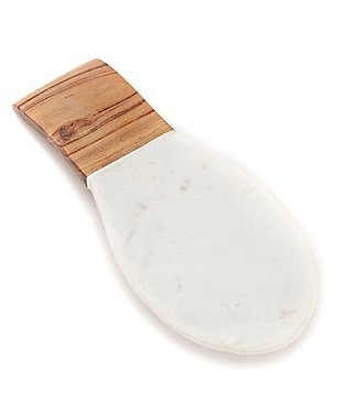 Southern Living Marble & Acacia Wood Spoon Rest