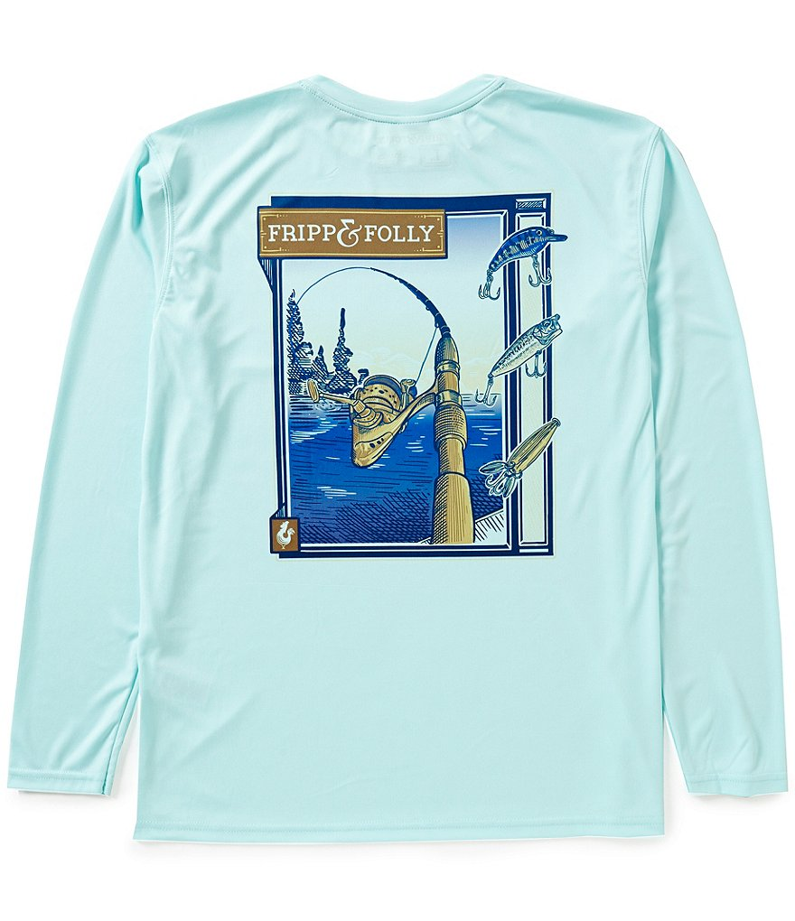 Fripp & Folly Freshwater Reel Wicking Long-Sleeve Graphic Pocket Tee