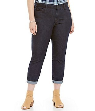 NYDJ Plus Alex Roll-Cuff Ankle Jeans