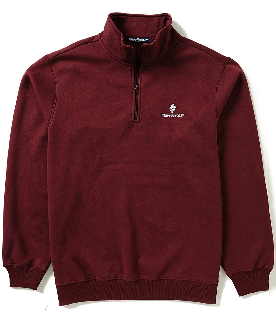 Fripp & Folly Quarter-Zip Mockneck Logo Pullover