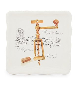 Noble Excellence Corkscrew Decal Wavy Square Plate