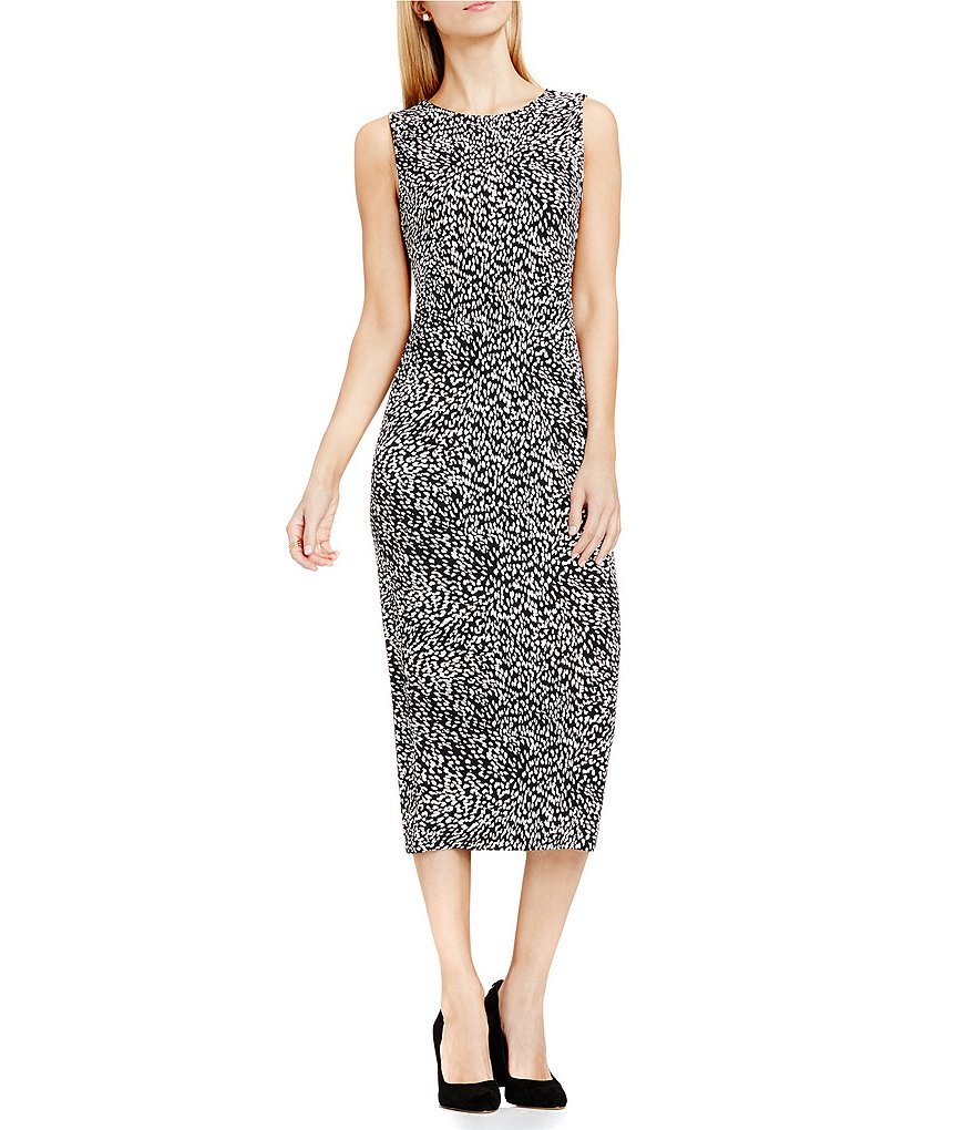 Vince Camuto Leopard Midi Dress