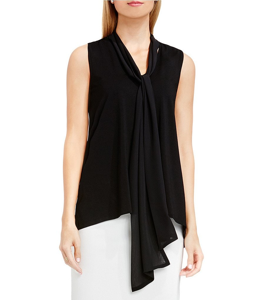 Vince Camuto Sleeveless Tie-Neck Sleeveless Top
