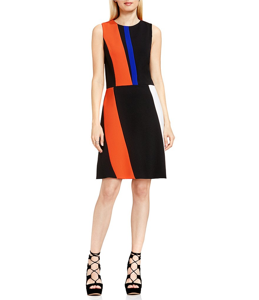 Vince Camuto Colorblock A-Line Dress