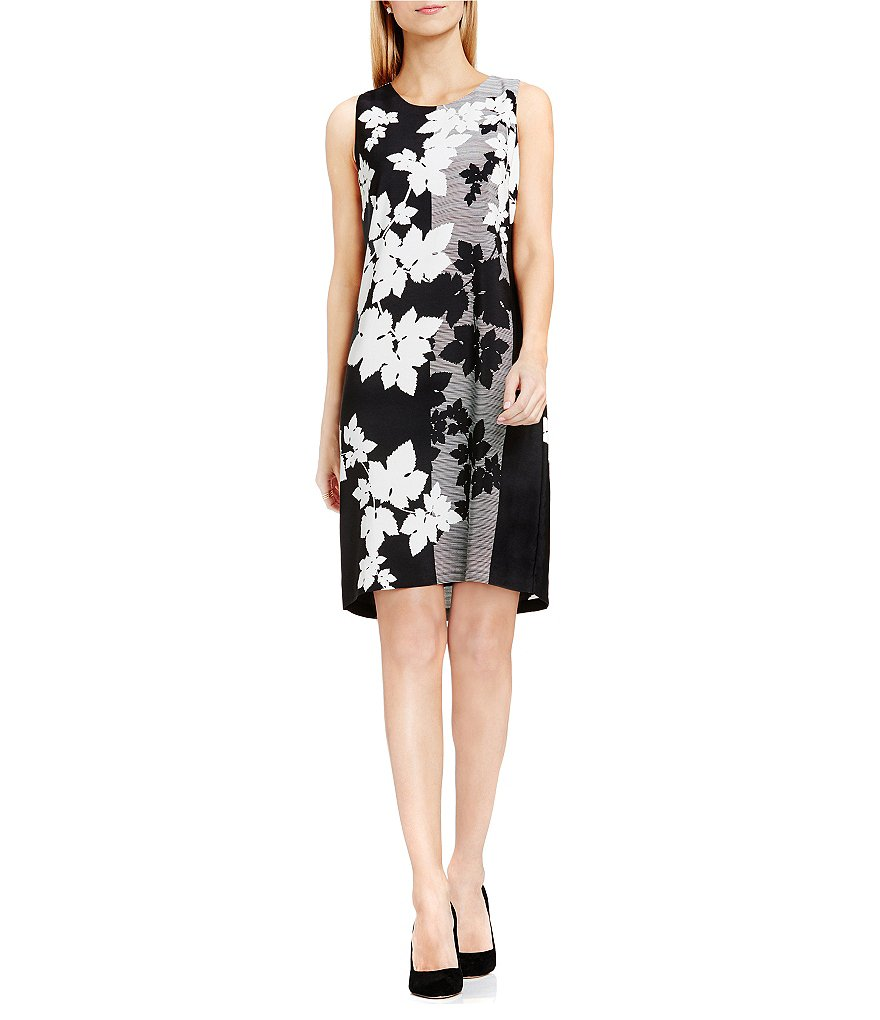 Vince Camuto Floral Screen Shift Dress