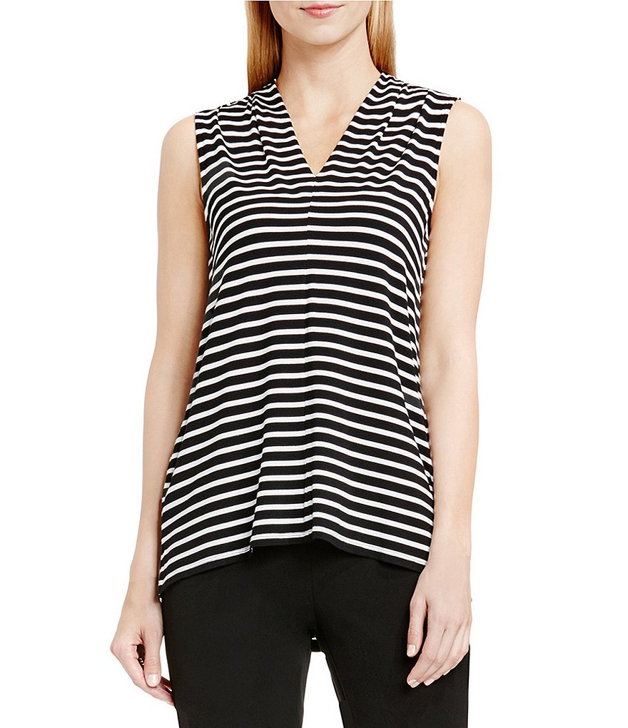 Vince Camuto Stripe Pulse Front Seam Blouse