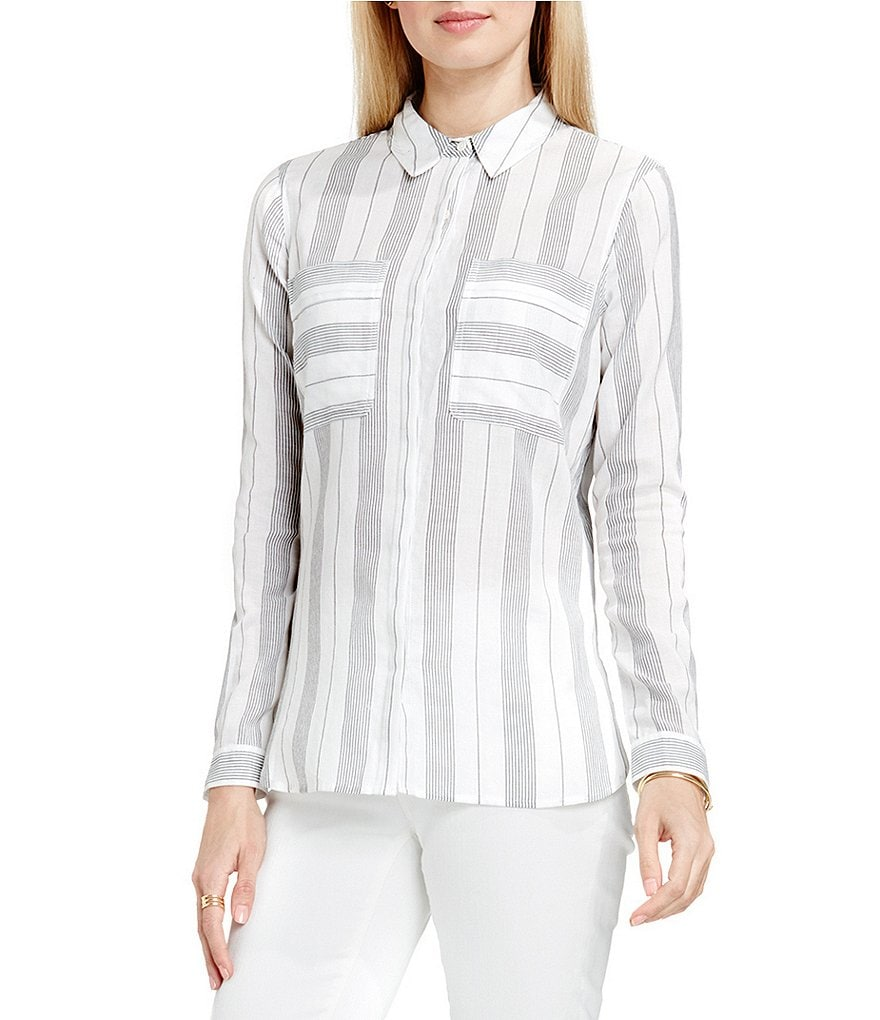 Two By Vince Camuto Striped Splitback Utility Shirt