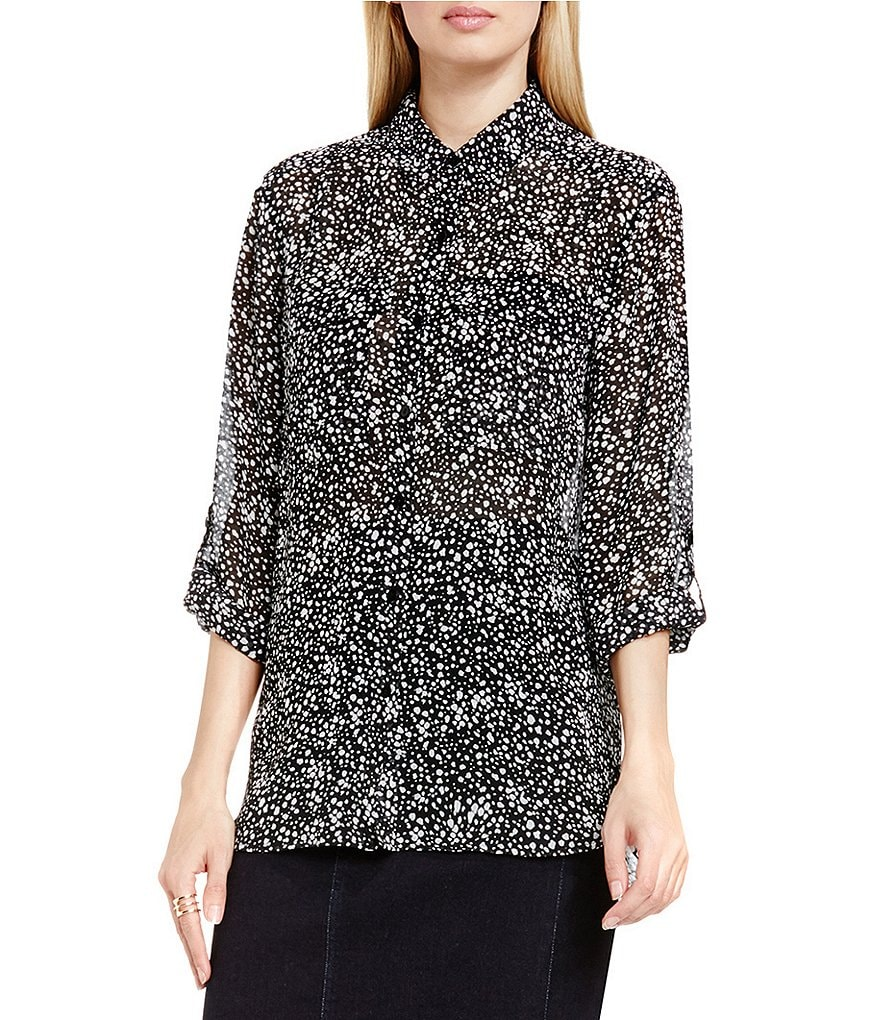 Two By Vince Camuto Vapor Dots Relaxed Utility Shirt