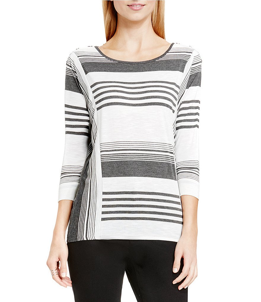 Two By Vince Camuto Striped Jersey Saturday Shirt