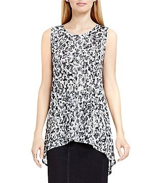 Two By Vince Camuto Layered Art Animal Burnout Tee