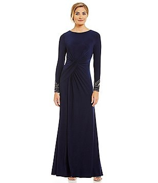 Vince Camuto Beaded Cuff Gown