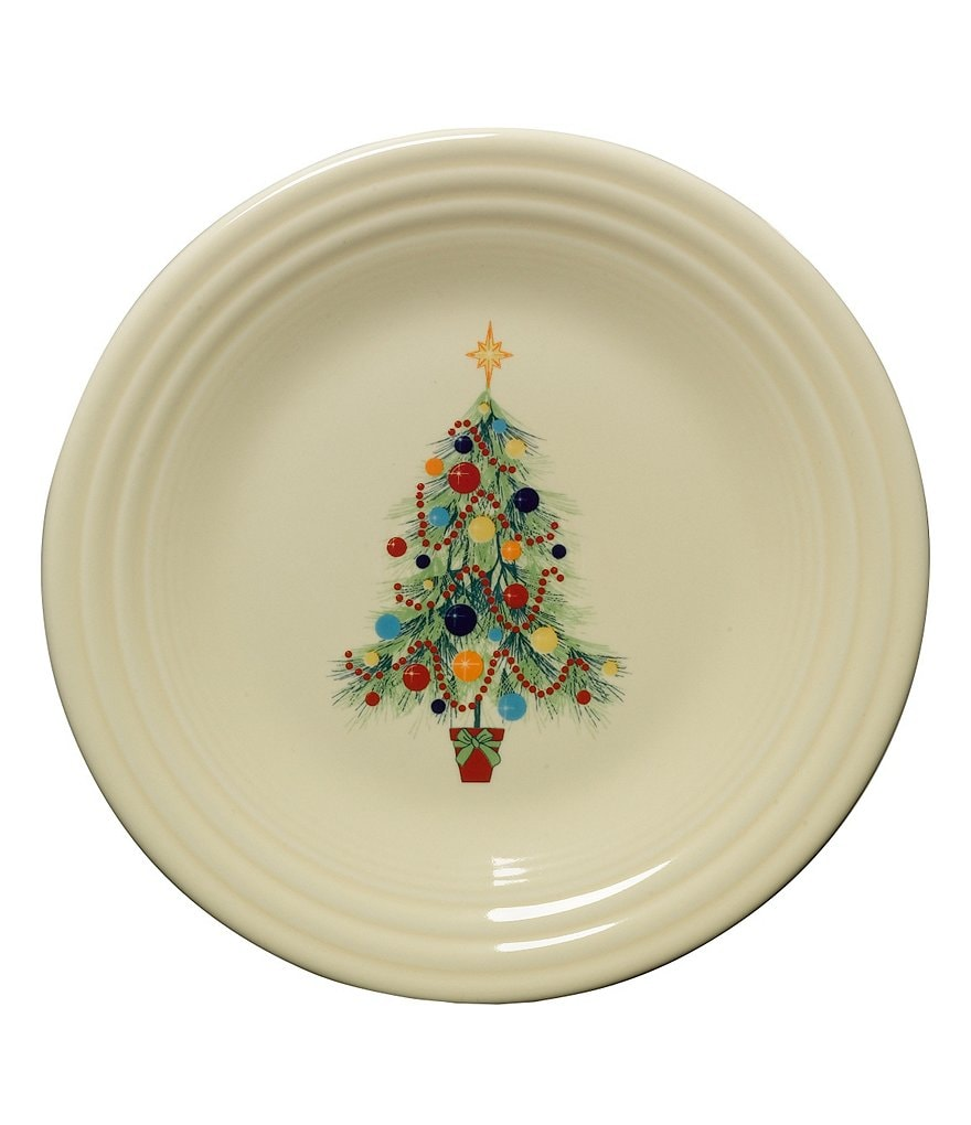 Fiesta Christmas Tree Accent Luncheon Plate