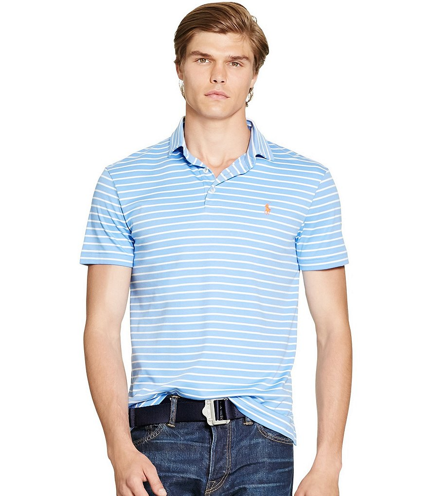 Polo Ralph Lauren Horizontal-Striped Pima Soft-Touch Polo Shirt