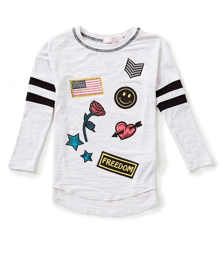Moa Moa Big Girls 7-16 Patch-Applique Tee