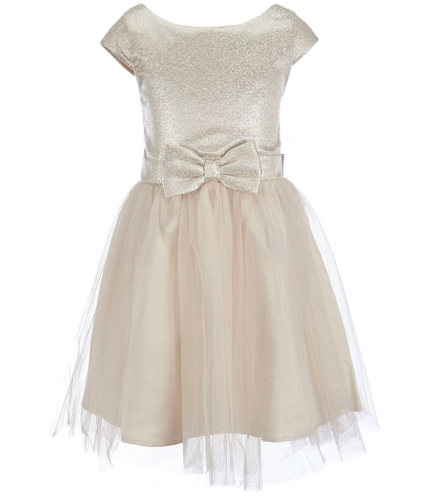 Zunie Big Girls 7-16 Brocade Bow Dress