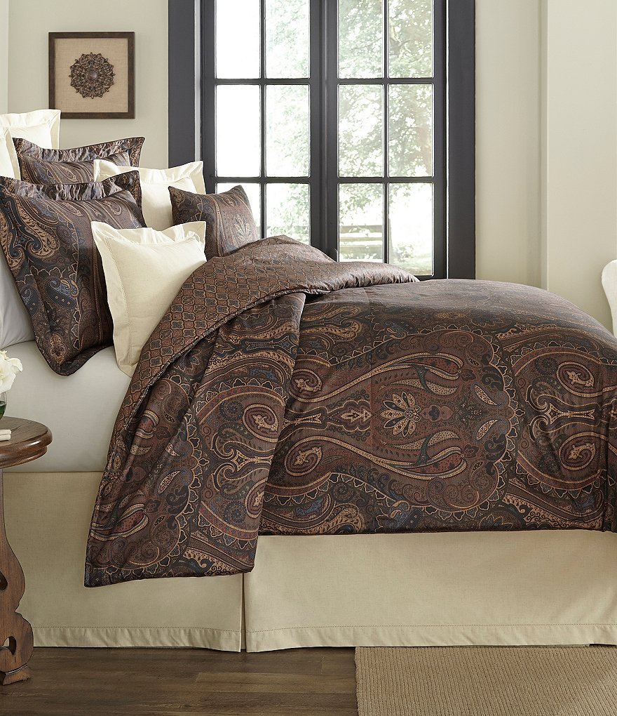 Villa by Noble Excellence Julian Paisley Sateen Comforter Mini Set