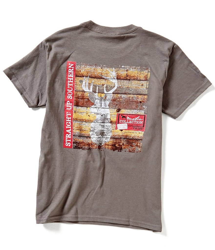 Straight Up Southern Big Boys 8-20 Buck Trophy Short-Sleeve Graphic Tee