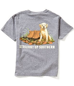 Straight Up Southern Big Boys 8-20 Barkin´ Boots Short-Sleeve Graphic Tee