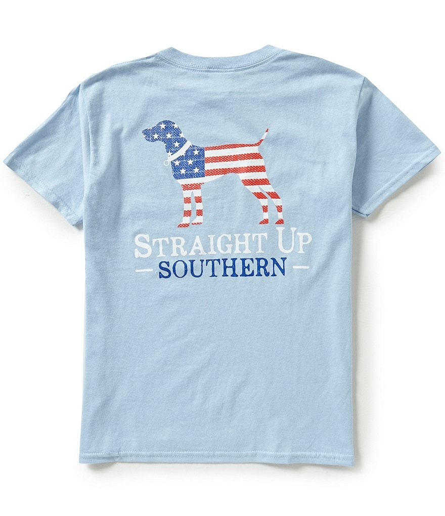 Straight Up Southern Big Boys 8-20 American Logo Short-Sleeve Graphic Tee