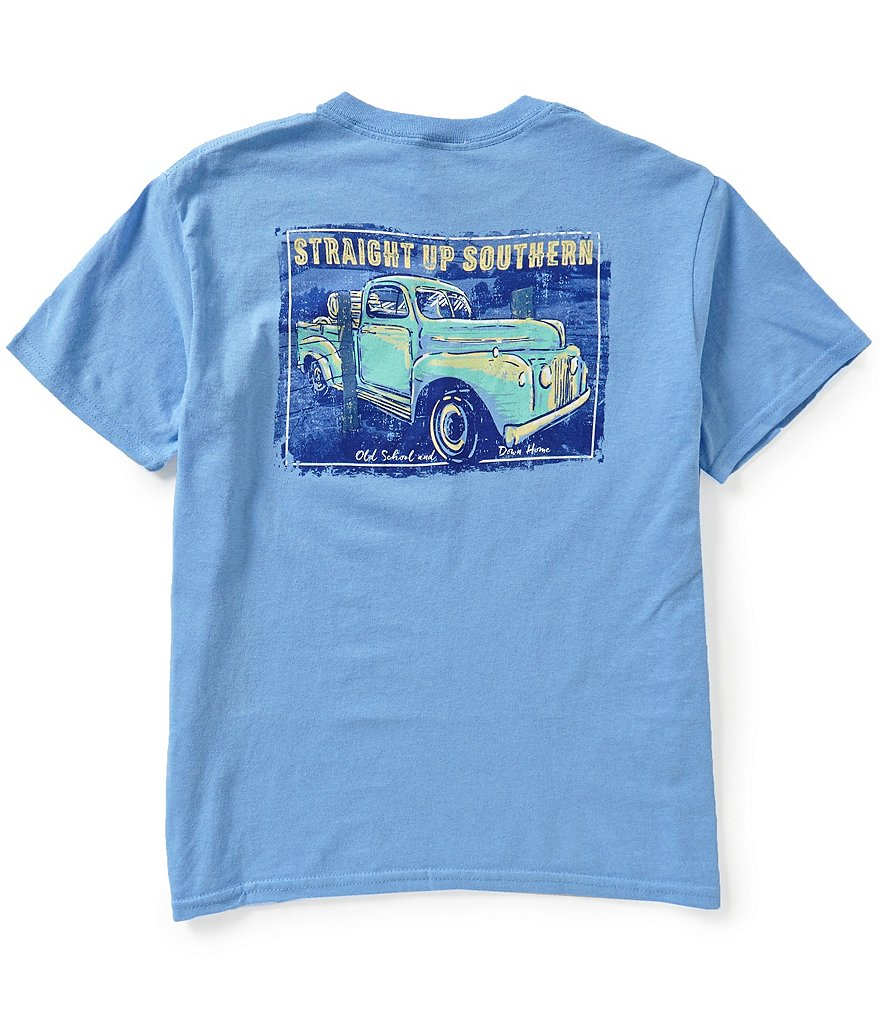Straight Up Southern Big Boys 8-20 Old School Ride Short-Sleeve Graphic Tee