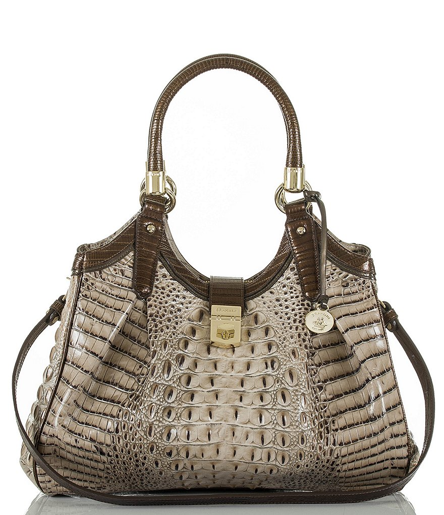 Brahmin Bronte Collection Elisa Crocodile-Embossed Hobo Bag