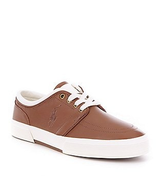 Polo Ralph Lauren Men´s Faxon Leather Lace-Up Low Sneakers