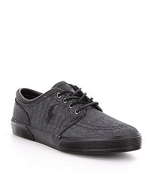 Polo Ralph Lauren Men´s Faxon Leather/Herringbone Denim Low Sneakers