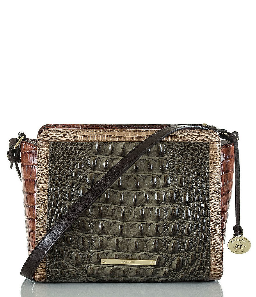 Brahmin Nottingham Collection Carrie Color Block Cross-Body Bag