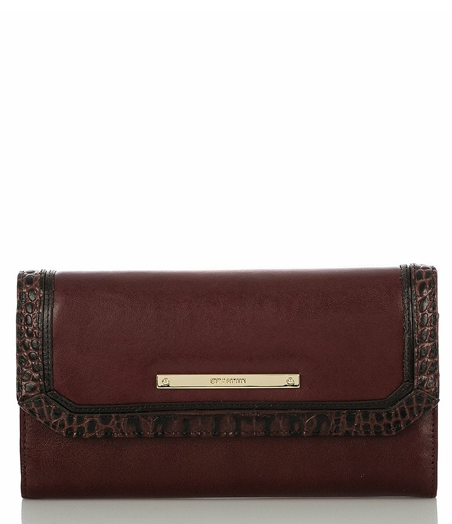 Brahmin Tuscan Tri-Texture Collection Soft Checkbook Wallet