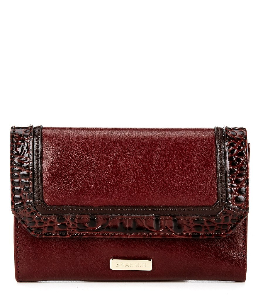 Brahmin Tuscan Tri-Texture Collection Helena Small Flap Wallet