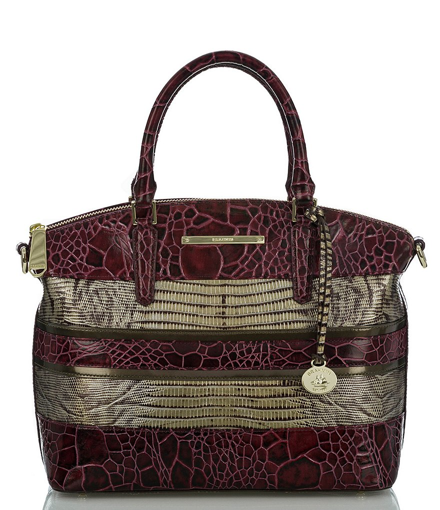 Brahmin Churchill Collection Duxbury Striped Satchel