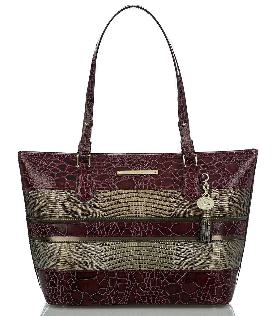Brahmin Churchill Collection Medium Asher Striped Tote
