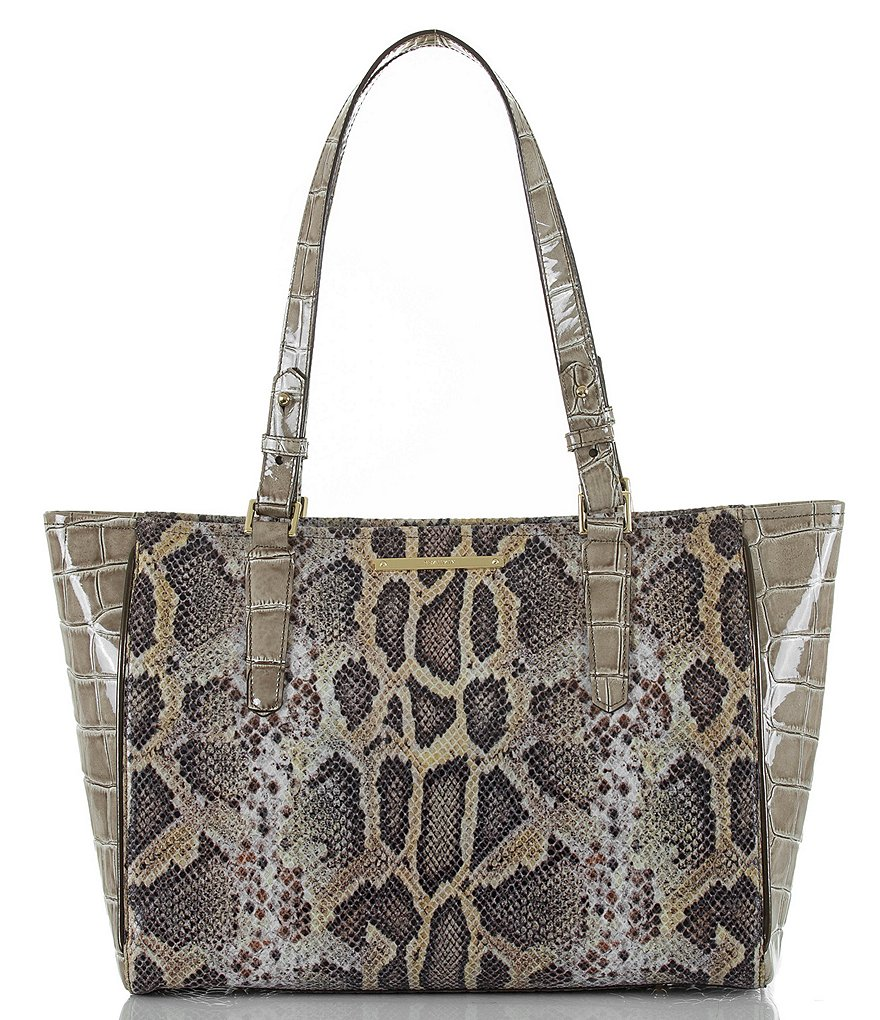 Brahmin Leighton Collection Snake-Embossed Medium Arno Tote