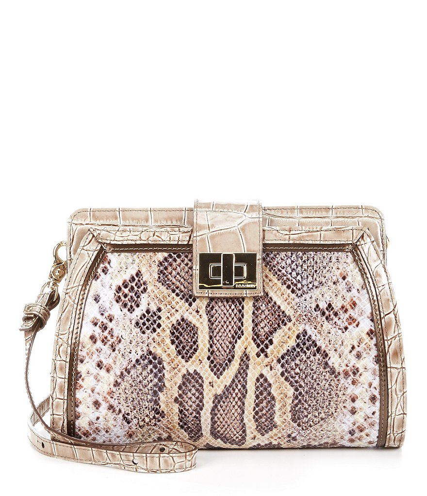 Brahmin Leighton Collection Snake Alena Cross-Body Bag