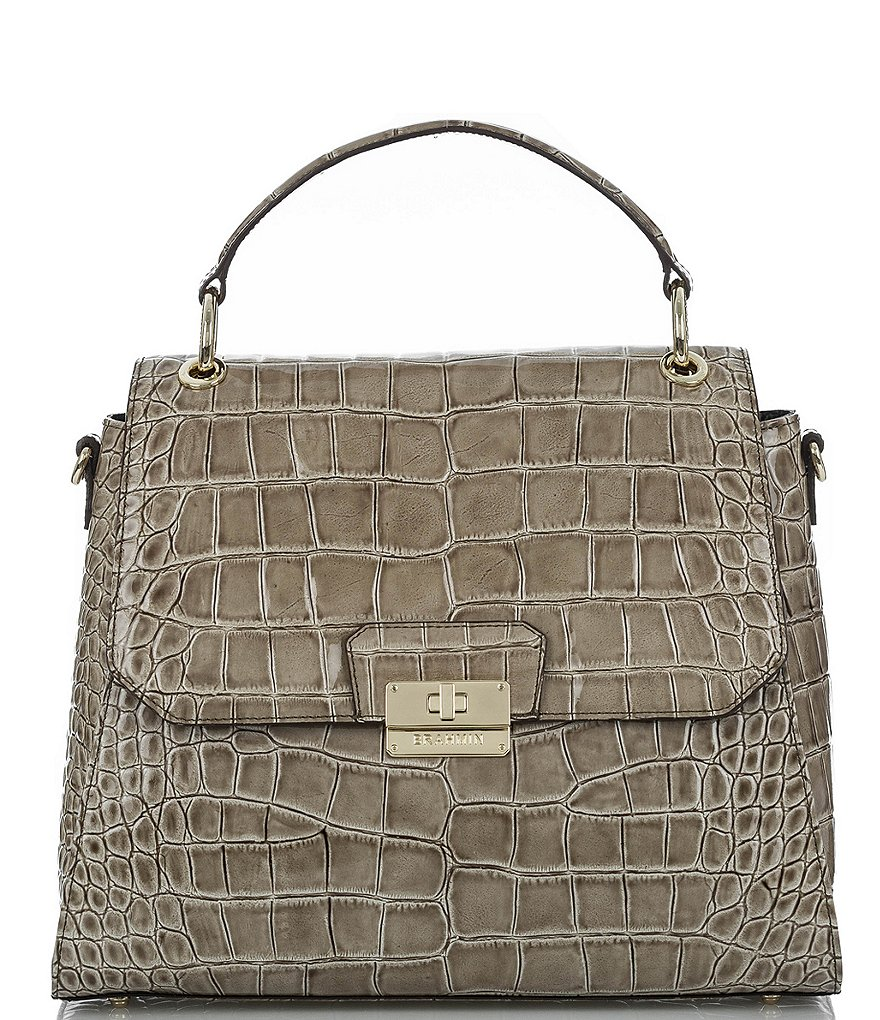 Brahmin Portsmouth Collection Brinley Flap Satchel