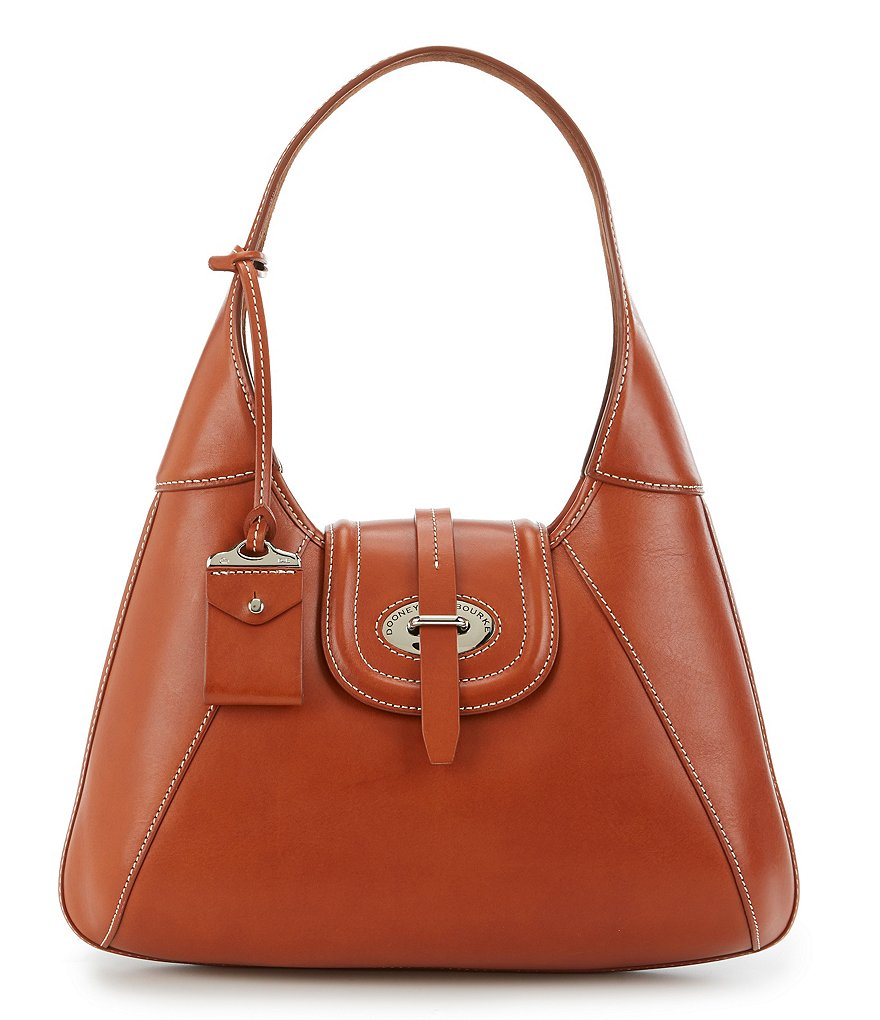 Dooney & Bourke Florentine Collection Front-Stitch Hobo Bag