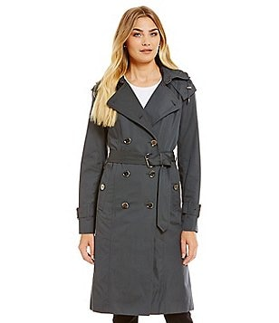 London Fog Heritage Double Breasted Trench With Removable Hood