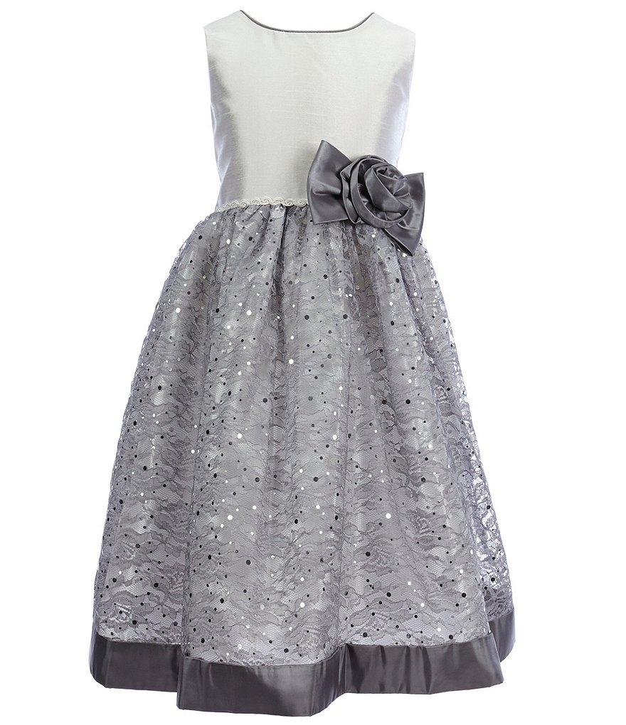 Jayne Copeland Little Girls 2T-6X Floral-Sequin Dress