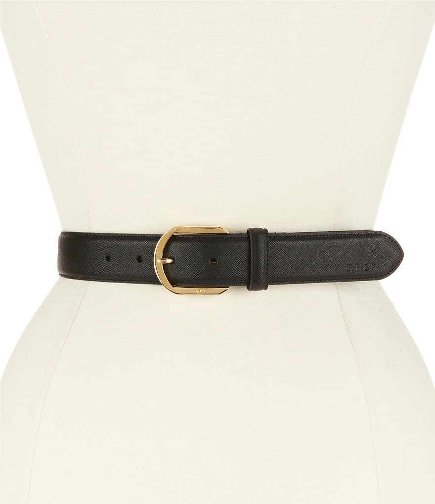 Lauren Ralph Lauren Crosshatched Leather Belt