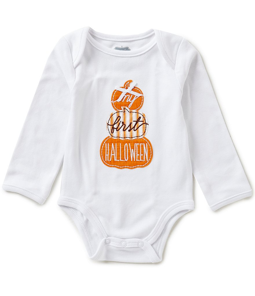 Mud Pie Baby Girls Newborn-6 Months My First Halloween Long-Sleeve Bodysuit