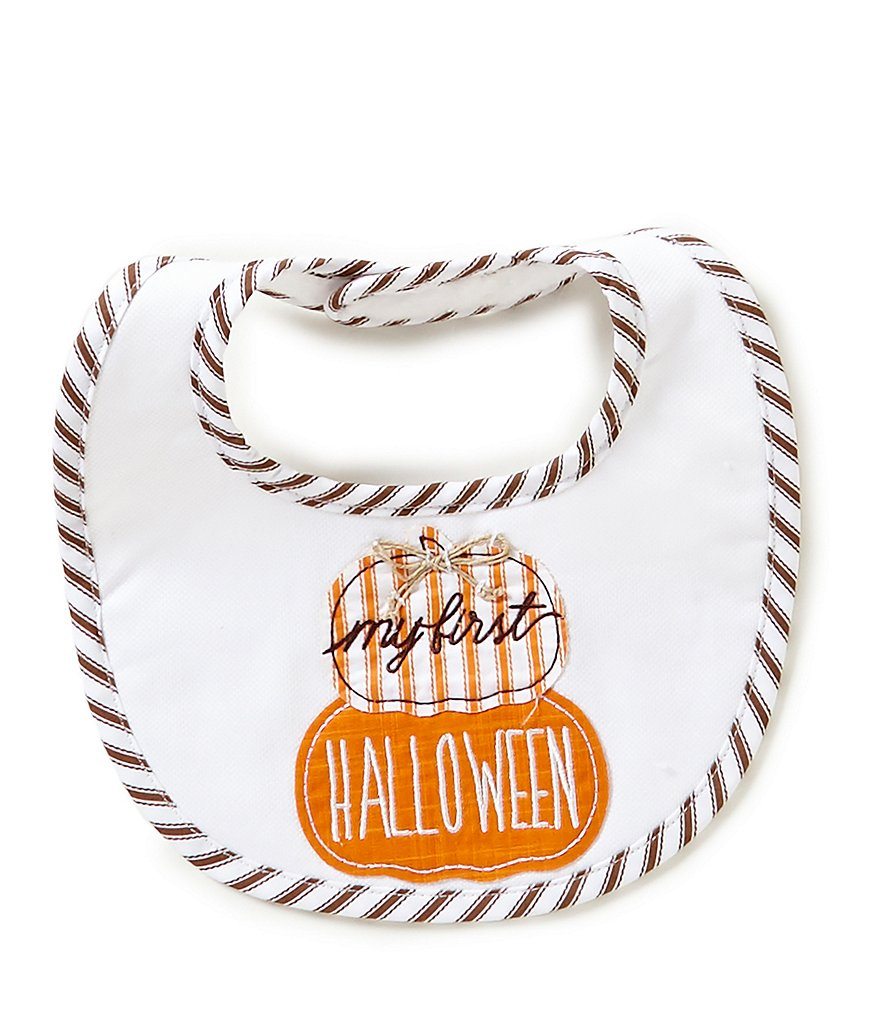 Mud Pie My First Halloween Poplin Bib