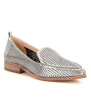 Vince Camuto Kade Metallic Perforated Slip On Loafers