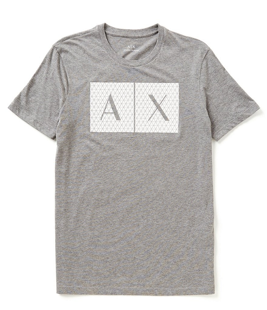 Armani Exchange Triangulation Crewneck Graphic Tee