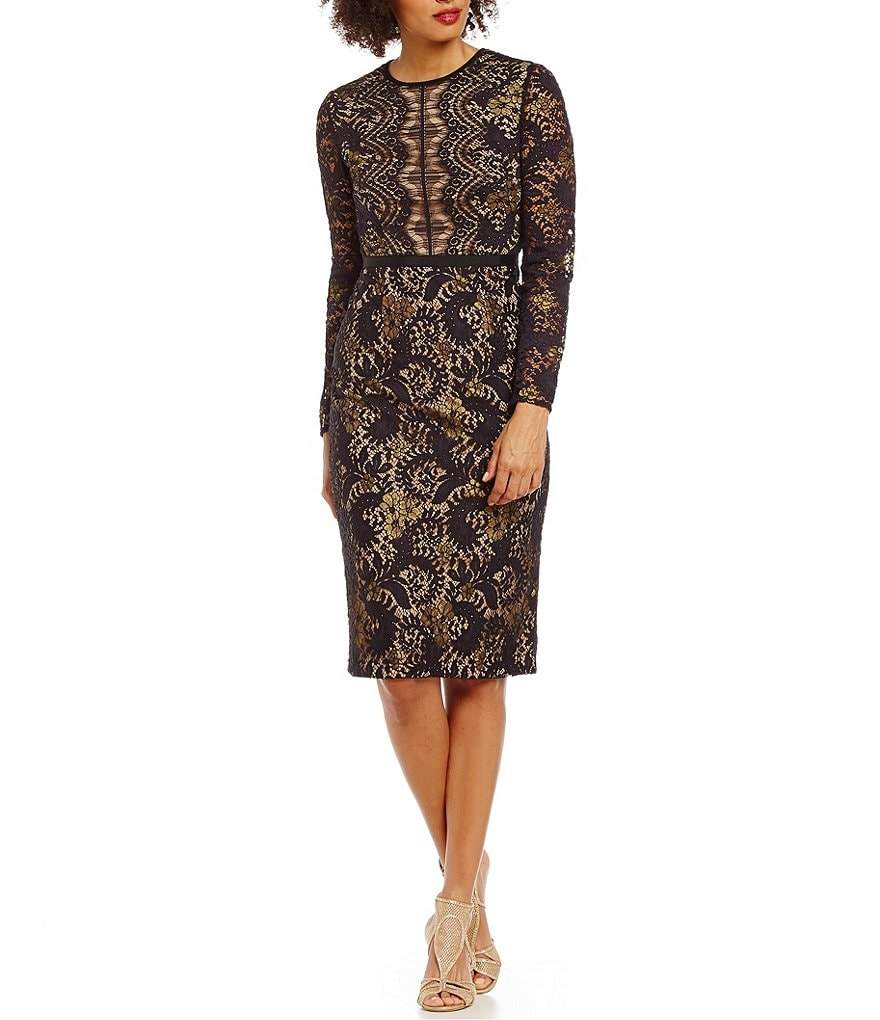 Maggy London Stretch Lace Sheath Dress