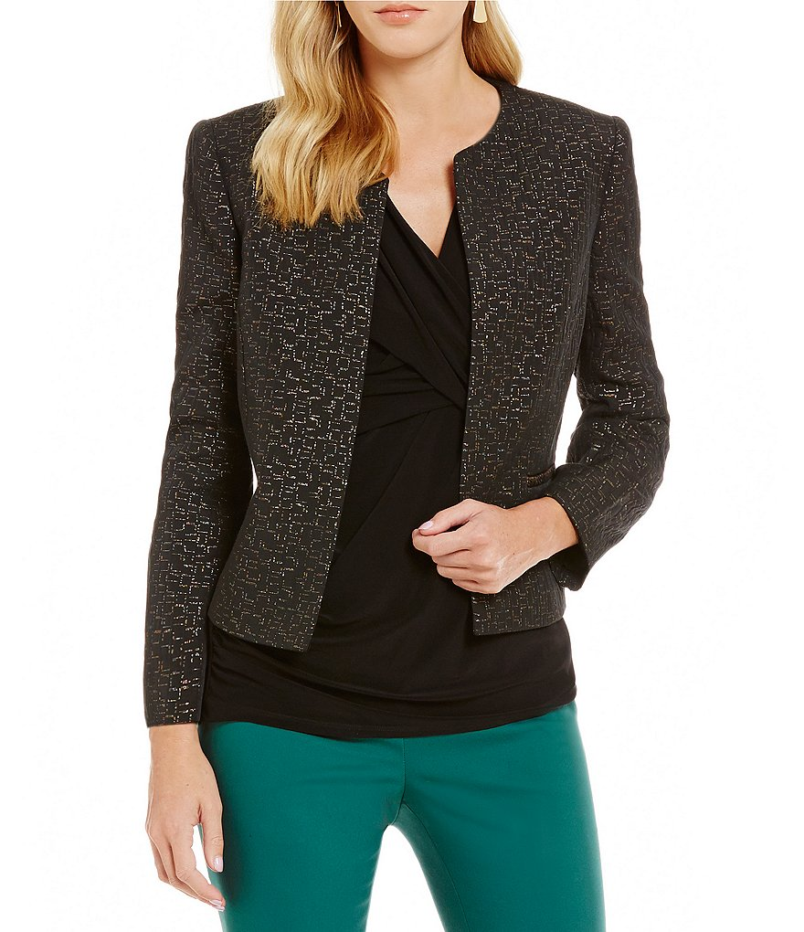 Preston & York Gina Jacquard Long Sleeve Jacket
