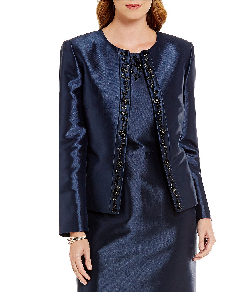 Preston & York Alanna Embroidered Shantung Jacket